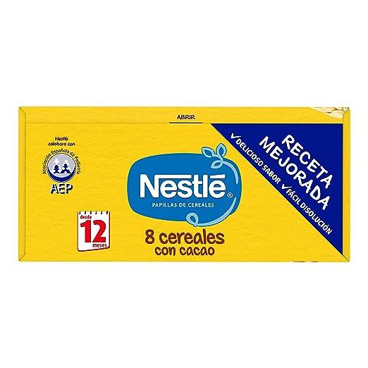 Nestlé - Junior Papillas 8 Cereales Con Cacao A Partir De 12 Meses 600 g: Amazon.es: Alimentación y bebidas