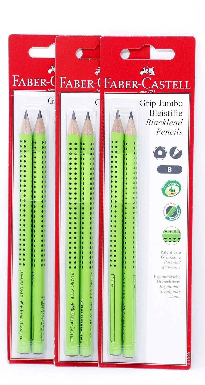 Bleistift Jumbo Grip blau Faber Castell Mine Härtegrad 2= B