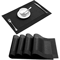 Placemat,U'Artlines Crossweave Woven Vinyl Non-Slip Insulation Placemat Washable Table Mats