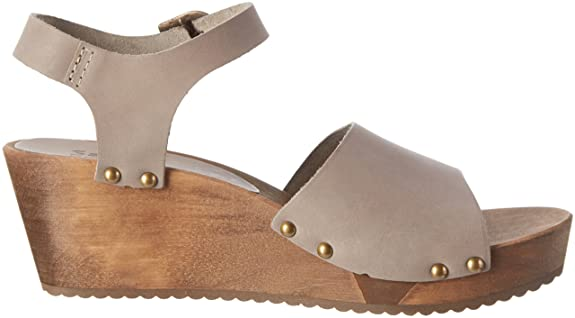 Damen Olisa Wedge Flex Sandal, Grau (Grey), 37 EU Sanita
