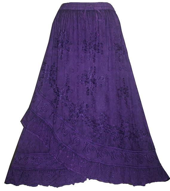 Saloon Girl Costume | Victorian Burlesque Dresses & History Agan Traders Womens Elastic Waistband Gypsy Medieval Peasant Cross Ruffle Maxi Skirt $47.99 AT vintagedancer.com