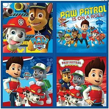4 St/ück Nickelodeon Paw Patrol Waschlappen 40 x 31cm