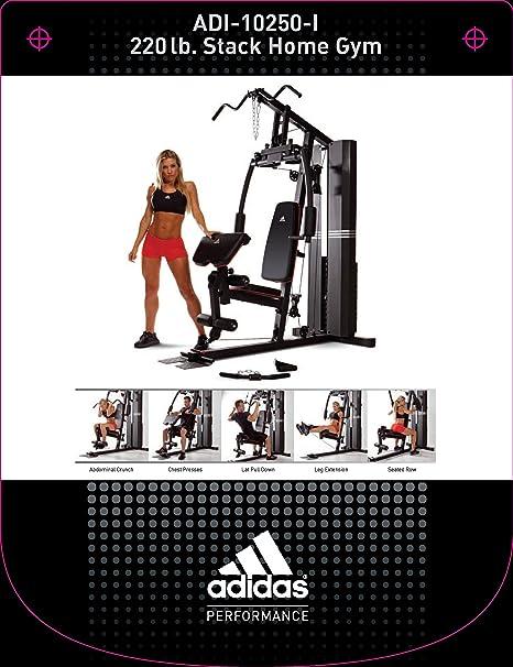 Asesinar colegio Explícito  Amazon.com : adidas 200 Pound Stack Home Gym : Sports & Outdoors