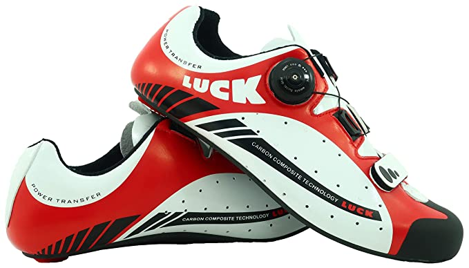 LUCK Zapatillas de Ciclismo para Carretera Plus, con Suela de Carbono y Sistema rotativo de precisión.: Amazon.es: Deportes y aire libre
