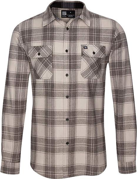 Jolt Gear - Camisa de Franela para Hombre, Manga Larga con Botones y Ajuste en seco, Absorbe la Humedad y se estira