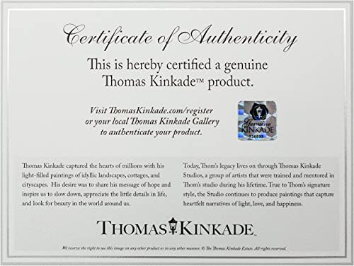 Thomas Kinkade Mountain Paradise Brushwork Burl Frame