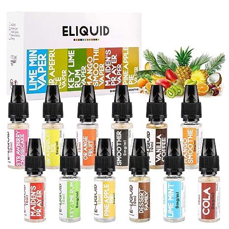 Bearbro E-líquido, 12 x 10 ml Set E-Líquido para Cigarrillo Electrónico