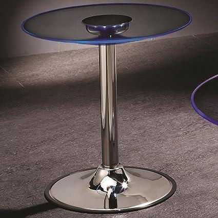 Coaster Contemporary Chrome LED End Table