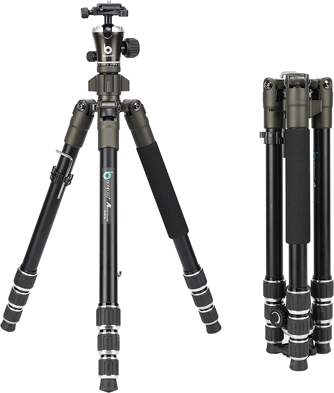 Bubble Level Professional Dual Handle Aluminum 67 Tripod for Canon VIXIA HF M301