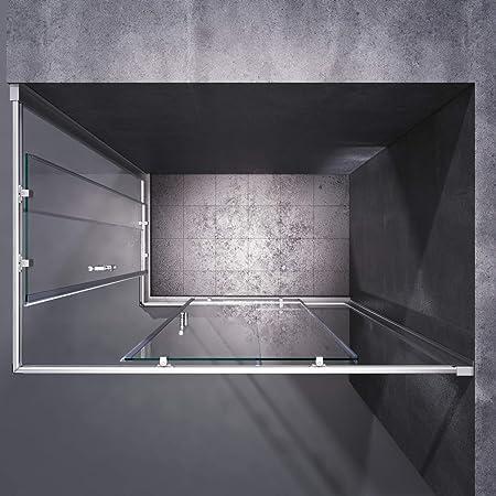 SONNI Mampara Ducha 120x70cm,Angular Puertas Corredera,Cabina de Ducha Retangular con Vidrio Templado de Seguridad 5mm: Amazon.es: Bricolaje y herramientas