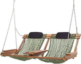 product image for Nags Head Hammocks Cumaru Deluxe Double Porch Swing, Meadow DuraCord