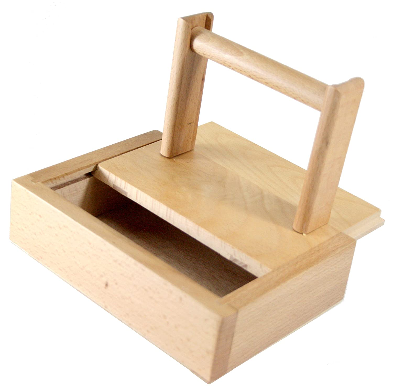 Wood Yarn Winder Holder Spinning with Storage (5.5x7.5 Box) Sierra Pacific Crafts