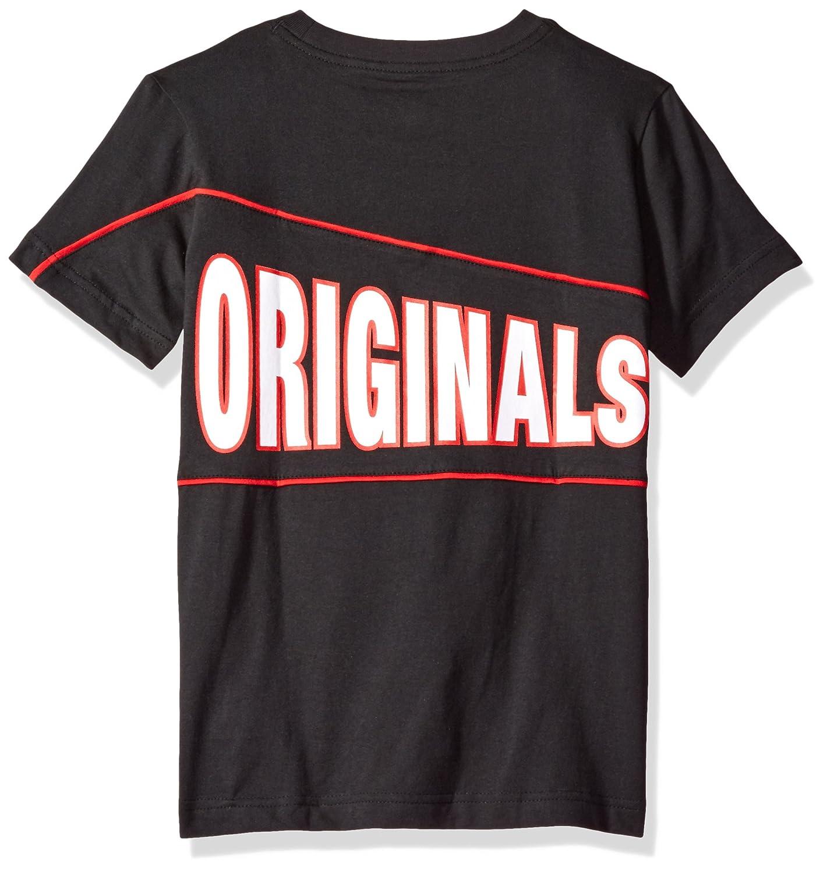 f3bebcd7861 Amazon.com: adidas Originals Tops Big Boys' Graphic Short Sleeve Tee, Black/ Scarlet/White, Small: Clothing