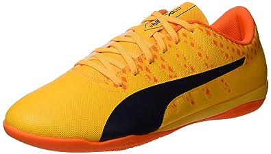 ce9c9f91875f PUMA Men s Evopower Vigor 4 IT Soccer Shoe Ultra Yellow-Peacoat-Orange  Clown Fish