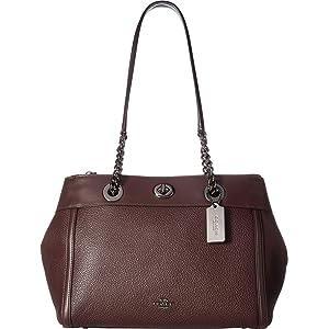 881602799 COACH Women's Turnlock Edie Dk/Dusty Rose One Size: Handbags: Amazon.com