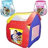 Monsieur Bébé  Tente de jeu enfants pliable + 200 balles et sac de rangement - Trois modèles - Normes CE - Cabane