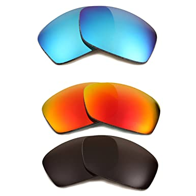 744a8ecf48a Image Unavailable. Image not available for. Color  HIJINX Replacement Lenses  Polarized Grey Red Blue by SEEK fits OAKLEY Sunglasses