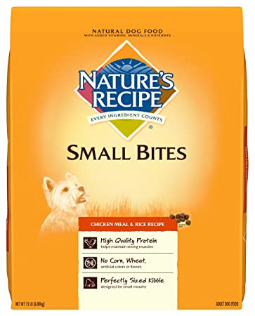 Amazon Natures Recipe Small Bites Chicken Meal Rice Recipe