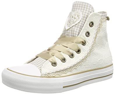 Krüger Madl Sneaker Cream Dream, Damen Hohe Sneakers, Beige (Ecru 2),