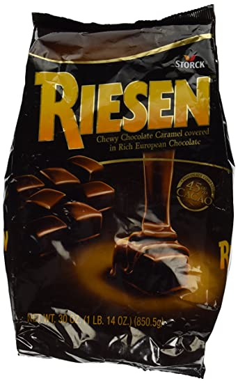 amazon com riesen 30 ounce bag caramel candy grocery