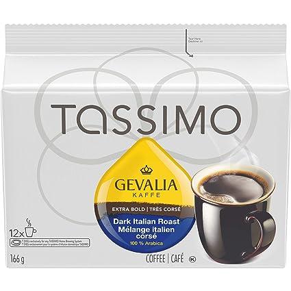 Gevalia - Disco en T para cafetera Tassimo (12 unidades, 2 ...