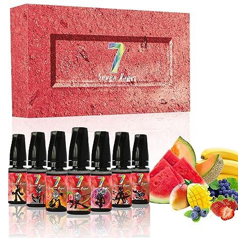 E Liquid, Seven Vape 7X10ml E-Liquido 70VG/30PG Sabor de Fruta Mezclado