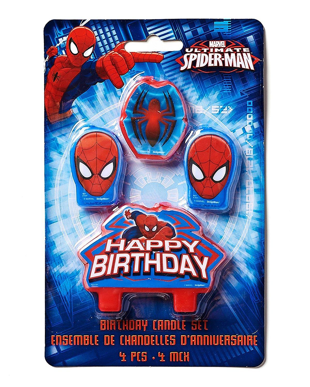 Strange Spider Man Birthday Cake Candle Set 4S Spiderman Theme Funny Birthday Cards Online Aboleapandamsfinfo