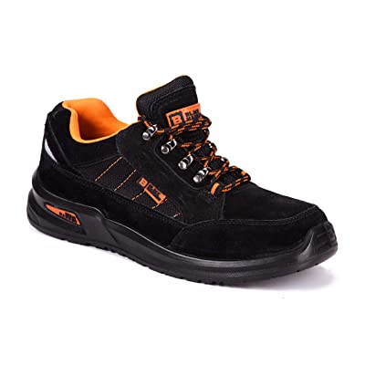 Black Hammer Mens Work Safety Steel Toe Cap Sneakers Lightweight Breathable Anti Sip Shoe 9952: Shoes