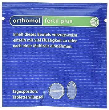 6d3e832414be29 Orthomol fertil plus 90er Tabletten & Kapseln - Nahrungsergänzung für  Männer - Fruchtbarkeit steigern bei Kinderwunsch