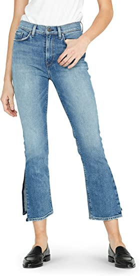 Hudson Jeans Womens Holly High Rise Wide Leg Crop Raw Hem Jean