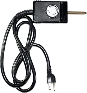 Heavy Duty 1600 Watt 3 Wire Wide Probe Thermostat Control Cord fits Electric Smokers and Grills