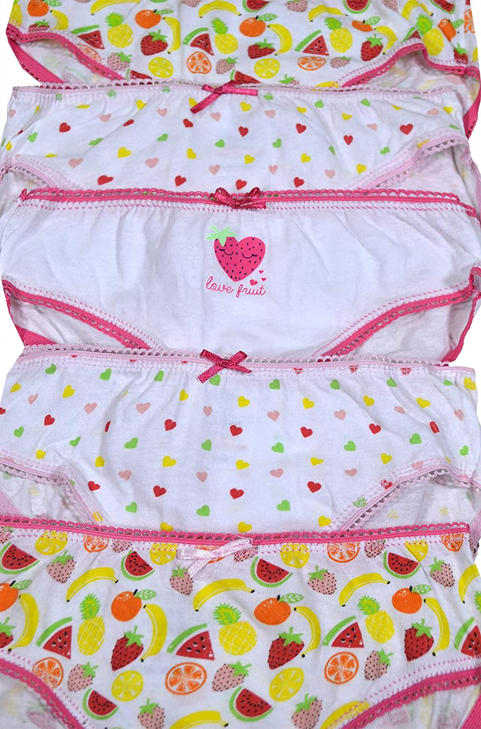 FASHION REVIEW New Girls Childrens 3 Pack Unicorn Polka-Dot Design Cotton Rich Briefs Knickers