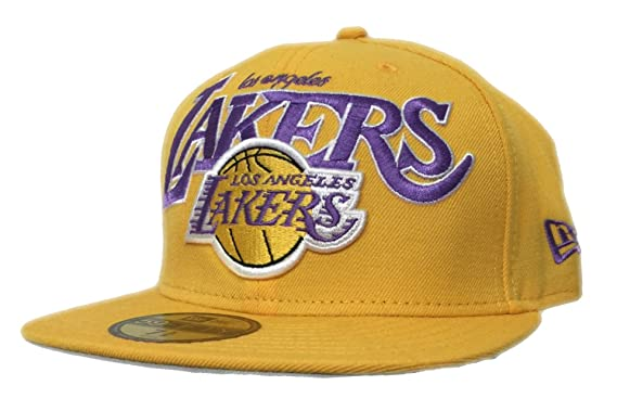 finest selection fb668 ed788 ... new style los angeles lakers new era hardwood classics gold fitted  59fifty cap 7 5 8