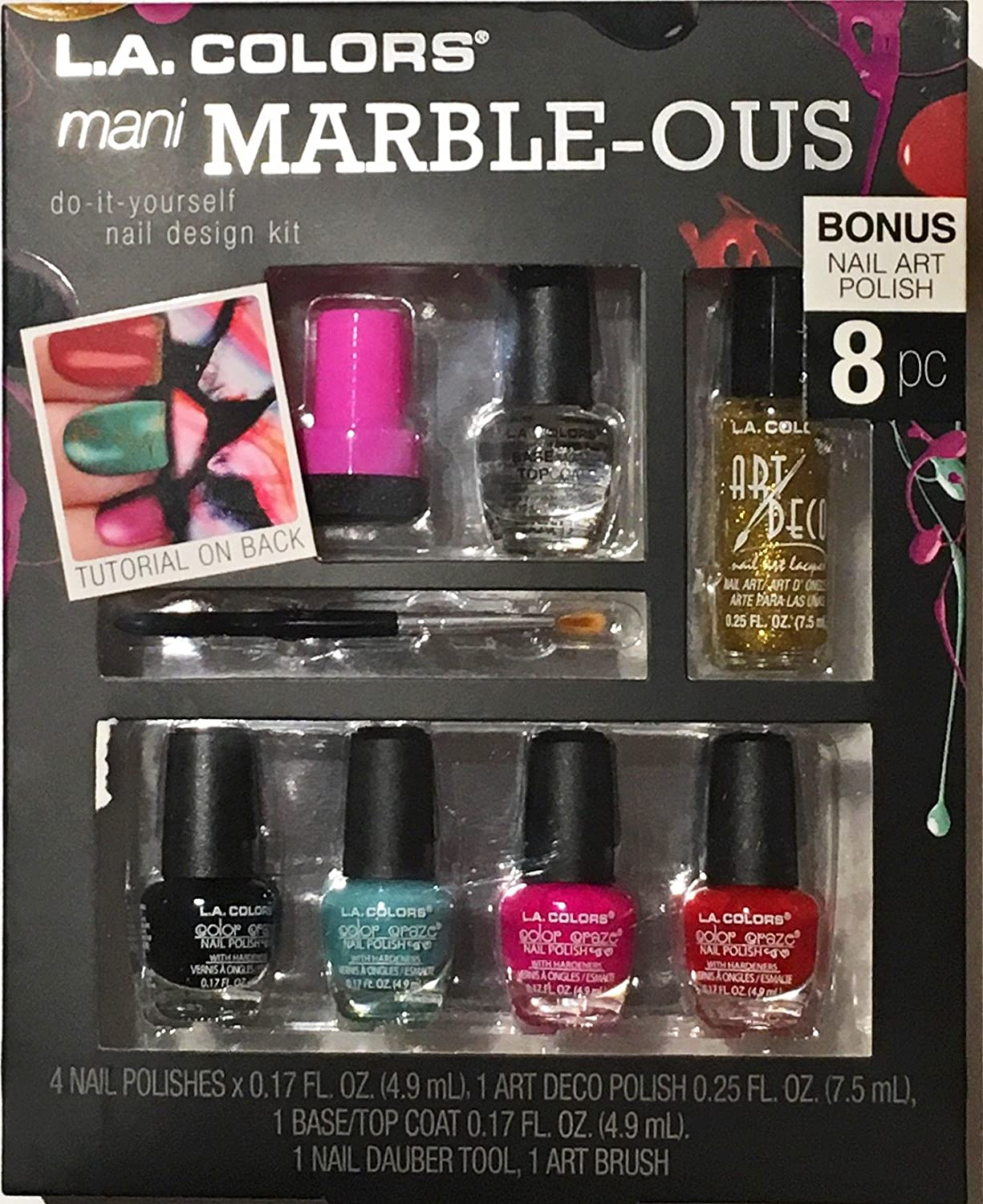 Amazon la colors nail art design kit baubles and bows beauty solutioingenieria Gallery