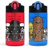 Zak Designs STAU-7086-AMZ Hydration, 16 oz, Star Wars Ep4 Plastic Water Bottle Set 2pc