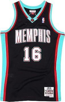 Mitchell & Ness Pau Gasol # 16 Memphis Grizzlies 2001-02 Swingman - Camiseta de la NBA, color negro: Amazon.es: Ropa y accesorios