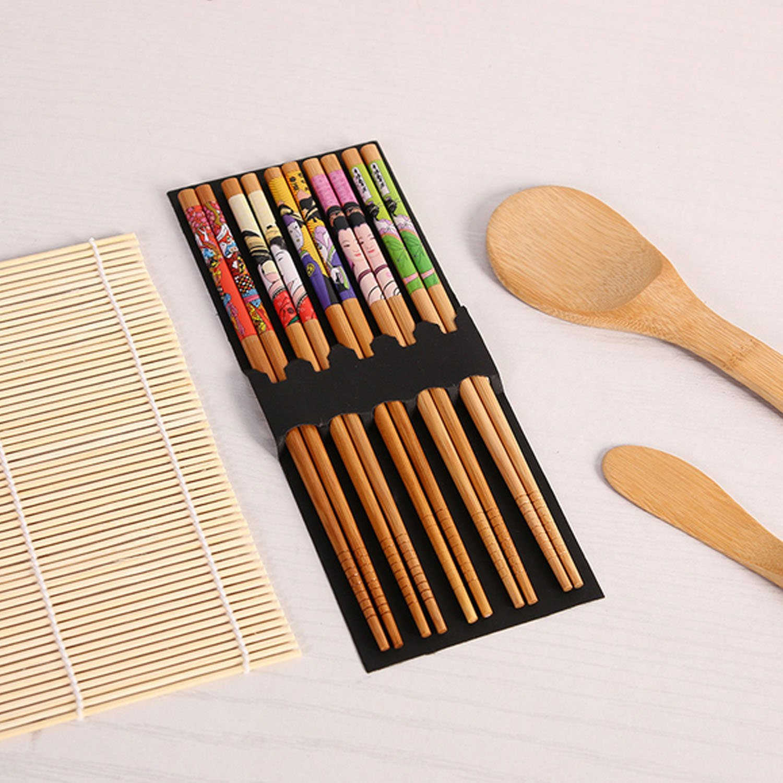 Sushi Kit Gosear Complete Bamboo Sushi Making Kit 2 Sushi Rolling Mats Rice Spoon Rice Spreader 5 Pair Chopsticks