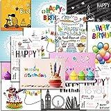 Kuuqa 20 pièces Cartes de joyeux anniversaire avec 20 enveloppes, cartes de voeux conçues par KUUQA