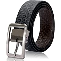 Second May Top Grain Genuine Leather Square Buckle Reversible Belt