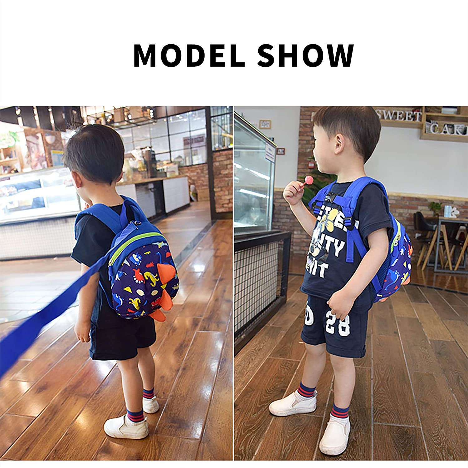 Dinosaur Safety Kids Leash Backpack with Harness Leash for Toddlers Boys Girls