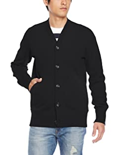 Loopwheeler LW Light Cardigan LW180: Black