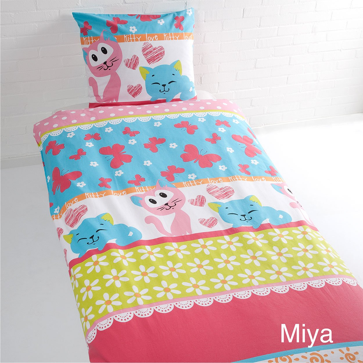 Vamos Duvet Cover + Pillowcase Cotton 140 x 200 x 50 cm, 140 x 200 x 50 cm 5064439