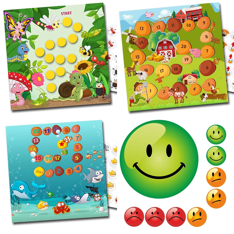 By Diana Belohnung für Kinder mit tollen Sets fröhliche Insekten / Bauernhof / Aquarium + Emojis in 3 Farben