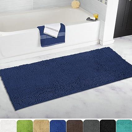 Gentil MAYSHINE Non Slip Bathroom Rugs Shag Shower Mat Machine Washable Bath Mats  Runner With