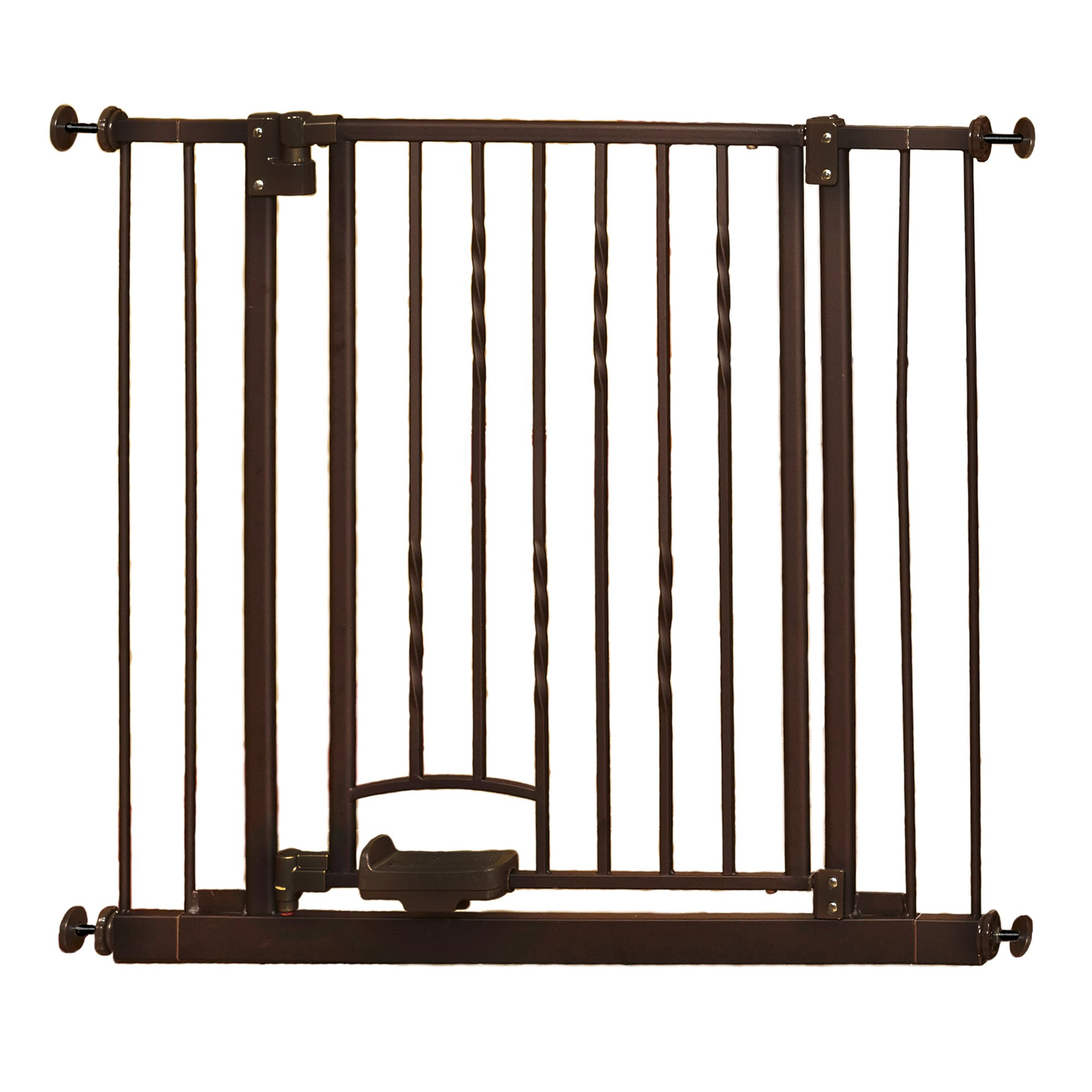 Supergate Step n Go Gate, Bronze, Fits Spaces between 31.25'' to 38.25'' Wide and 30''high