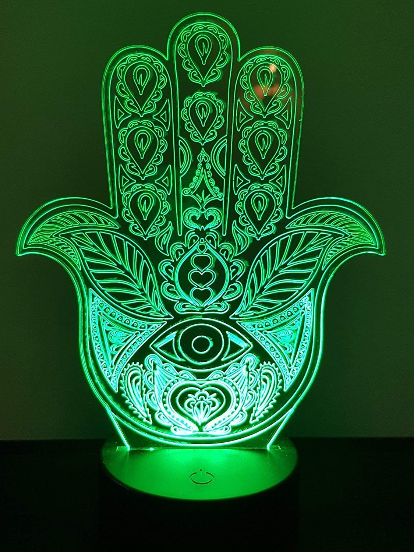 Lampe 3D Motif: Hamsa