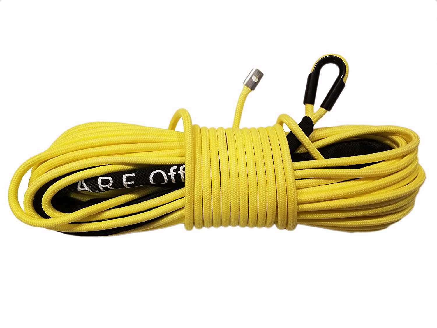 A.R.E Offroad LSSY Synthetic Rope 7//16 Inch X 100 Foot Spidersilk Winch Line Yellow Arachni Recovery Equipment