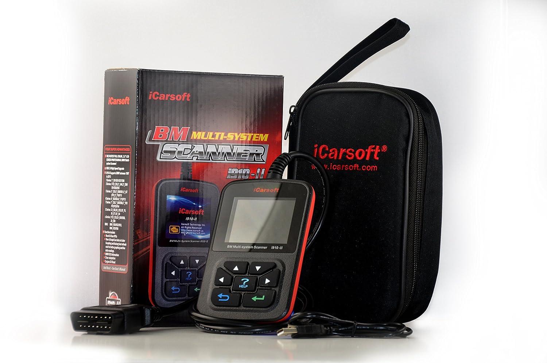 iCarsoft i910/II BMW y Mini Profesional Dispositivo de diagn/óstico Incluye 20/Pin Adaptador Aceite de Servicio Airbag Reset OBD E y F de veh/ículos