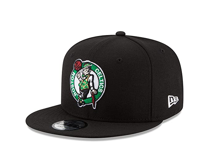 official photos b742f 0d296 New Era NBA Boston Celtics Men s 9Fifty Team Color Basic Snapback Cap, One  Size,