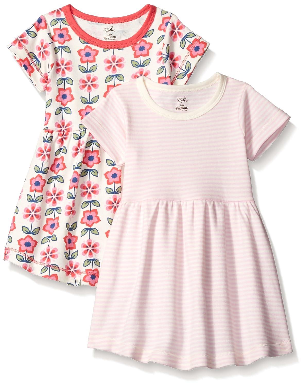 NatureNow Unisex-Baby Baby 2-Pack Organic Cotton Dress 68609